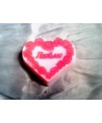 """""""Люблю"""" сердечко красное"""